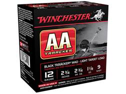 "Winchester AA Heavy TrAAcker Ammunition 12 Gauge 2-3/4"" 1-1/8 oz #9 Shot Black Wad"