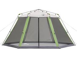 "Coleman Screened Hexagonal Canopy 180""x156"" Polyester White and Green"