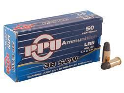 Prvi Partizan Ammunition 38 S&W 145 Grain Lead Round Nose Box of 50