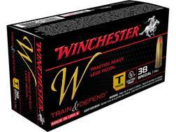 Winchester W Train Reduced Lead Ammunition 38 Special 130 Grain Full Metal Jacket