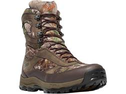 """Danner High Ground 8"""" Uninsulated Waterproof Hunting Boots Leather and Nylon Realtree Xtra Green ..."""