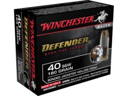 Winchester Supreme Elite Self Defense Ammunition 40 S&W 180 Grain Bonded PDX1 Jacketed Hollow Point