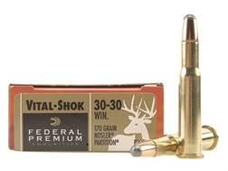 Federal Premium Vital-Shok Ammunition 30-30 Winchester 170 Grain Nosler Partition Box of 20