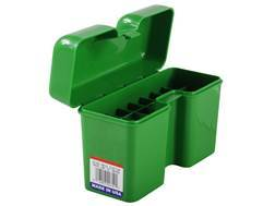 MTM Flip-Top Ammo Box 7mm Remington Magnum, 300 Winchester Magnum, 375 Remington Ultra Magnum 22-Round Plastic Green