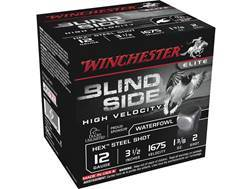 "Winchester Blind Side High Velocity Ammunition 12 Gauge 3-1/2"" 1-3/8 oz #2 Non-Toxic Steel Shot"