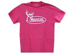 Buck Commander Women's Logo T-Shirt Short Sleeve Cotton Pink Large