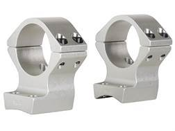 """Talley Lightweight 2-Piece Scope Mounts with Integral 1"""" Rings Browning X-Bolt Silver Medium"""