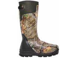 "LaCrosse Alphaburly Pro 18"" Waterproof 1600 Gram Insulated Hunting Boots Rubber Clad Neoprene Side-Zip Realtree Xtra Men's 11 D"