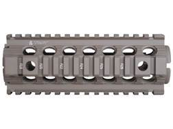 "Troy Industries 7"" MRF CAR/M4 Drop-In Battle Rail 2-Piece Quad Rail Handguard AR-15 Carbine Length Flat Dark Earth- Blemished"