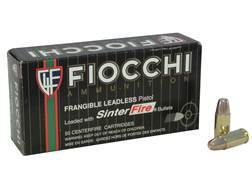 Fiocchi Frangible Ammunition 9mm Luger 100 Grain Sinterfire Flat Point Lead-Free Box of 50