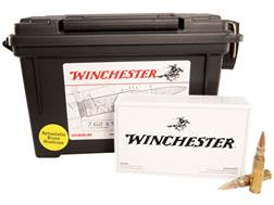 Winchester Ammunition 7.62x51mm NATO 147 Grain Full Metal Jacket Ammo Can of 120 (6 Boxes of 20)