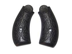 Vintage Gun Grips S&W Double Action Early-Style Floral Pattern Polymer Black