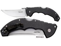 Cold Steel Talwar Folding Tactical Knife Upswept Point AUS 8A Stainless Steel Blade G-10 Handle Black