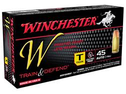 Winchester W Train Reduced Recoil Ammunition 45 ACP 230 Grain Full Metal Jacket