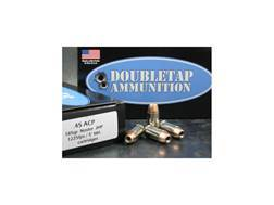 Doubletap Ammunition 45 ACP 185 Grain Nosler Jacketed Hollow Point