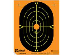 "Caldwell Orange Peel Targets 9"" Self-Adhesive Silhouette Package of 25"