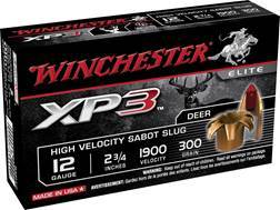 "Winchester Ammunition 12 Gauge 2-3/4"" 300 Grain XP3 Sabot Slug Lead-Free Box of 5"