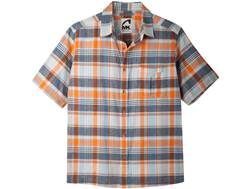 Mountain Khakis Men's Tomahawk Madras Shirt Short Sleeve Cotton Cantaloupe Multi Large 42-45