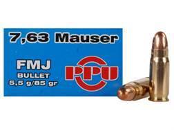 Prvi Partizan Ammunition 30 Mauser 85 Grain Full Metal Jacket Box of 50