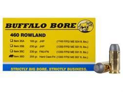 Buffalo Bore Ammunition 460 Rowland 255 Grain Hard Cast Flat Nose Box of 20