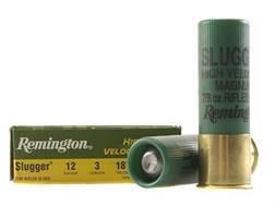 """Remington Slugger Ammunition 12 Gauge 3"""" 7/8 oz High Velocity Rifled Slug Box of 5"""
