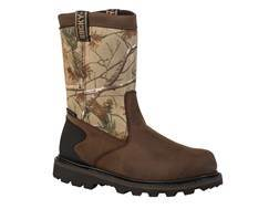 "Rocky Core 8"" Slip-On Waterproof Boots Leather and Nylon Realtree AP Camo Men's 9-1/2 EE"