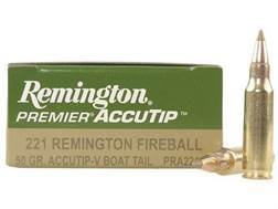 Remington Premier Varmint Ammunition 221 Remington Fireball 50 Grain AccuTip Boat Tail Box of 20