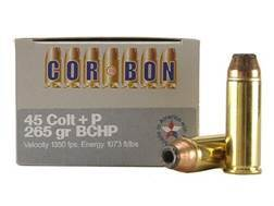 Cor-Bon Hunter Ammunition 45 Colt (Long Colt) +P 265 Grain Bonded Core Hollow Point Box of 20