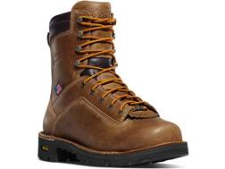 "Danner Quarry 8"" Waterproof Uninsulated Aluminum Toe Work Boots Leather Distressed Brown Men's"