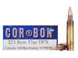 Cor-Bon DPX Hunter Ammunition 223 Remington 53 Grain DPX Hollow Point Lead-Free Box of 20