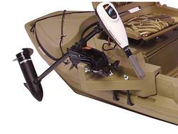 Beavertail Stealth Sneak Boat Motor Mount for Stealth 2000 Marsh Brown
