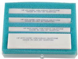 Norton Hard Arkansas Sharpening Stone Package of 4 Ultra-Fine