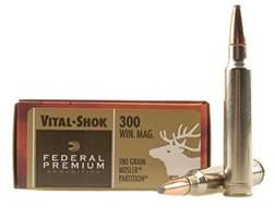 Federal Premium Vital-Shok Ammunition 300 Winchester Magnum 180 Grain Nosler Partition Box of 20