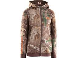 Under Armour Youth Ayton Hooded Sweatshirt Full-Zip Polyester Realtree Xtra Camo