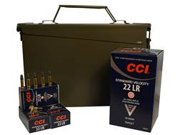 CCI Standard Velocity Ammunition 22 Long Rifle 40 Grain Lead Round Nose Ammo Can of 1500 (3 Boxes of