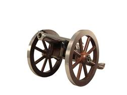 "Traditions Mini Napoleon III Black Powder Cannon 50 Caliber 7.25"" Nickel Plated Barrel Hardwood C..."