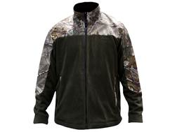 MidwayUSA Men's Softshell Fleece Jacket Polyester Woodland Green and Realtree Xtra Camo