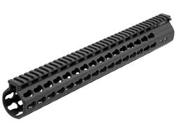 UTG Pro Model 308 KeyMod Free Float Extended Rifle Length Handguard Low Profile LR-308 Aluminum Black 15""