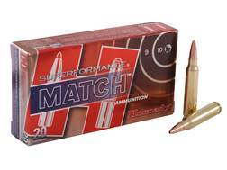 Hornady SUPERFORMANCE Match Ammunition 223 Remington 75 Grain Hollow Point Boat Tail Match Box of 20