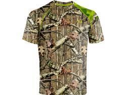 Under Armour Men's EVO Scent Control HeatGear T-Shirt Short Sleeve Polyester Mossy Oak Break-Up Infinity Camo 2XL 50-52