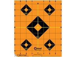 """Caldwell Orange Peel Targets 8"""" Self-Adhesive Sight-In Package of 5"""