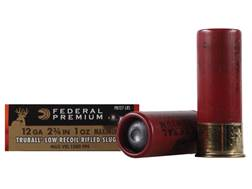 "Federal Premium Vital-Shok Low Recoil Ammunition 12 Gauge 2-3/4"" 1 oz TruBall Hollow Point Rifled Slug Box of 5"