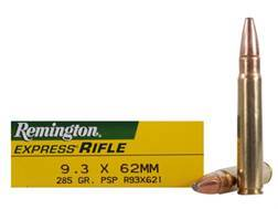 Remington Express Ammunition 9.3x62mm Mauser 286 Grain Pointed Soft Point Box of 20