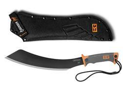 "Gerber Bear Grylls Parang Machete 14"" Carbon Steel Blade Rubber Grip Handle Orange and Black"