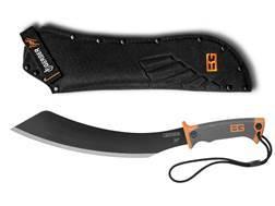 "Gerber Bear Grylls Parang Machete 14"" Carbon Steel Blade Rubber Grip Handle Orange and Black"