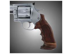 Hogue Fancy Hardwood Grips with Accent Stripe, Finger Grooves and Contrasting Butt Cap Dan Wesson Large Frame Oversize Checkered