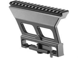 Mako Quick Detachable Picatinny Style Scope Mount Dragunov SVD, Romanian PSL, Romak 3 Side Rail Aluminum Black