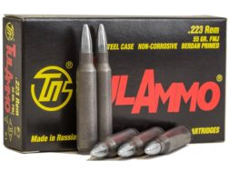 TulAmmo Ammunition 223 Remington 55 Grain Full Metal Jacket (Bi-Metal) Steel Case