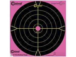 "Caldwell Orange Peel Pink Targets 12"" Self-Adhesive Bullseye Package of 5"