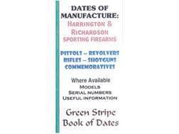 "Green Stripe Data Books ""Harrinton and Richards"" Book by Firing Pin Enterprises"